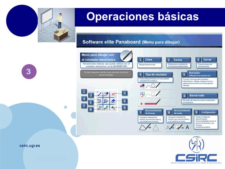 www.company.com csirc.ugr.es 3 Operaciones básicas