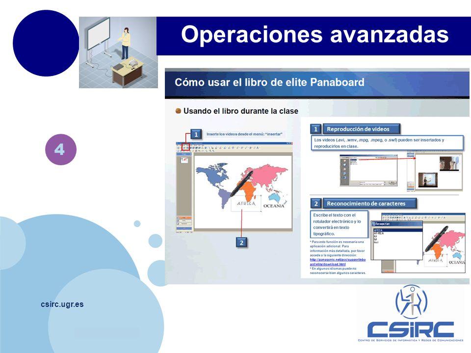 www.company.com csirc.ugr.es 4 Operaciones avanzadas