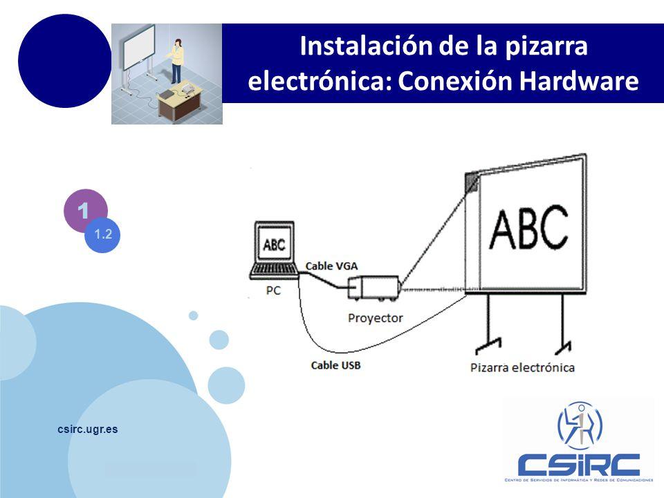 www.company.com csirc.ugr.es 1 1.2 Instalación de la pizarra electrónica: Conexión Hardware