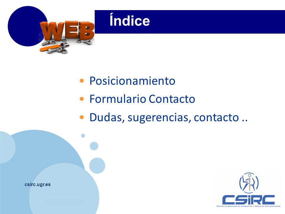 www.company.com csirc.ugr.es 1 1.1 Posicionamiento Xml Sitemap Generator