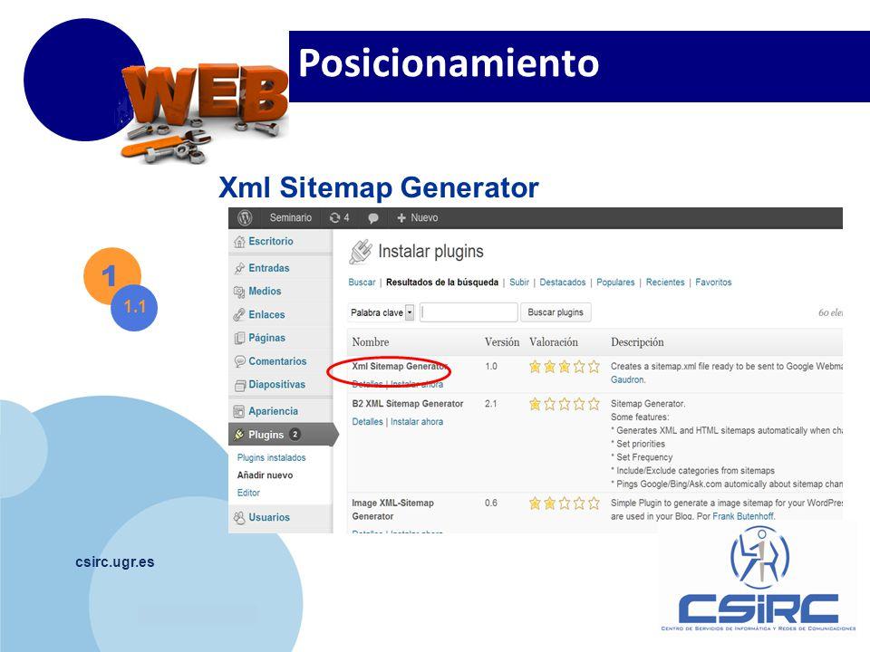 www.company.com csirc.ugr.es Posicionamiento 1 1.1