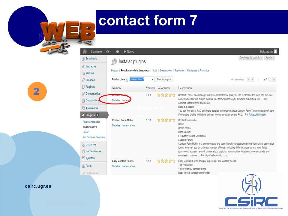 www.company.com csirc.ugr.es 2 contact form 7