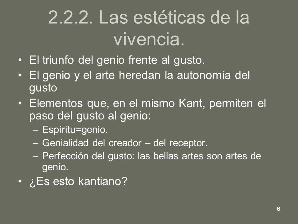 7 2.2.3.La conciencia estética. La distinción entre arte y realidad.