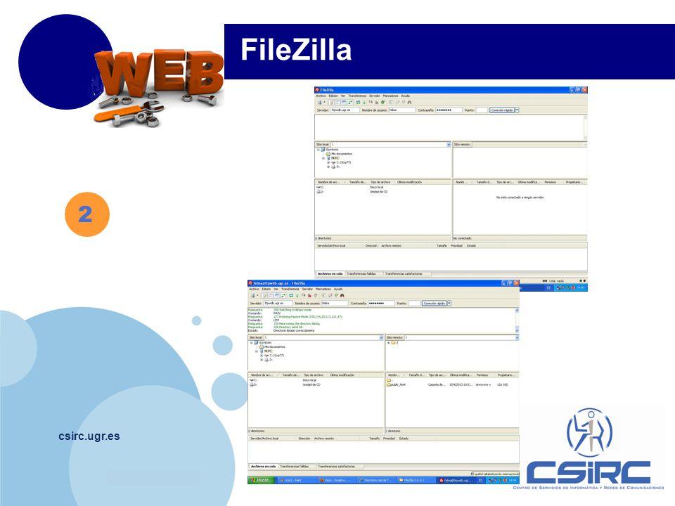 www.company.com csirc.ugr.es 2 FileZilla