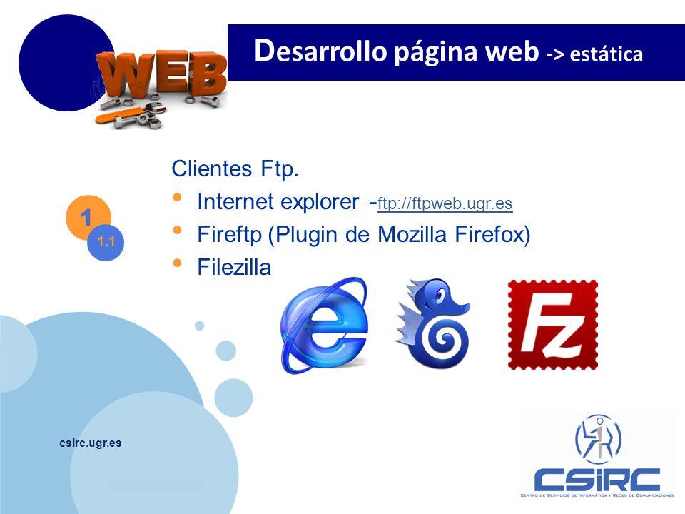 www.company.com csirc.ugr.es Editor páginas Web.
