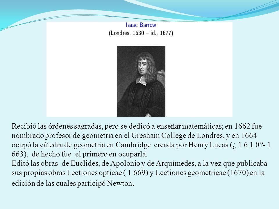 Recibió las órdenes sagradas, pero se dedicó a enseñar matemáticas; en 1662 fue nombrado profesor de geometría en el Gresham College de Londres, y en