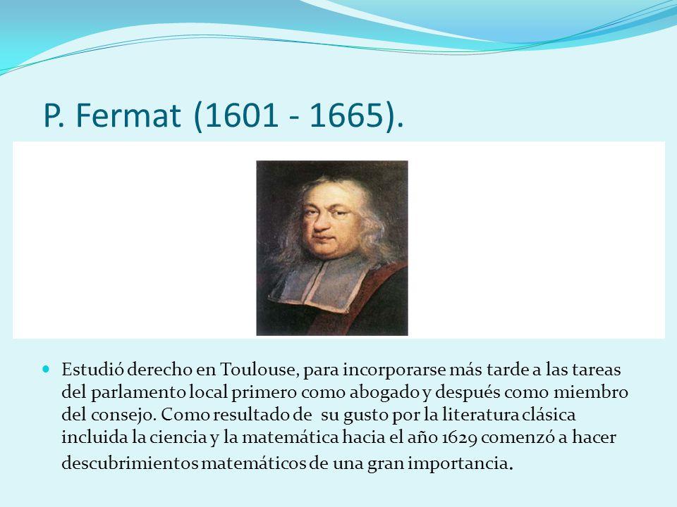 los trabajos de Fermat se publicaron de forma póstuma.