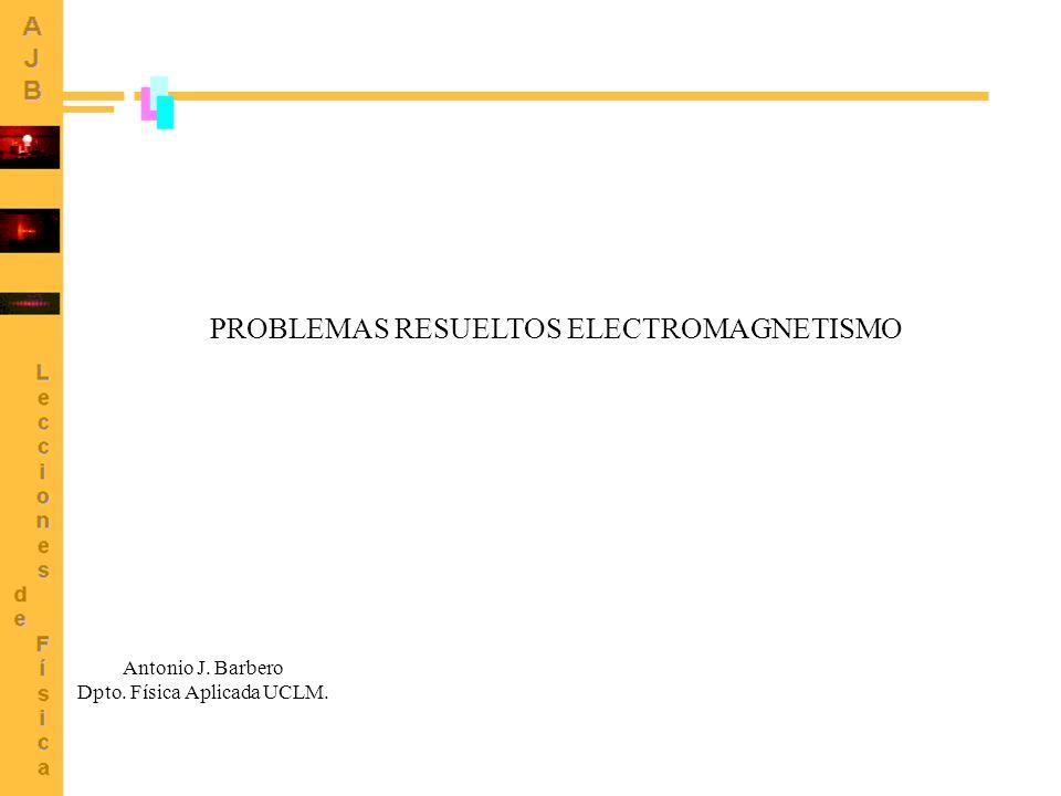 PROBLEMAS RESUELTOS ELECTROMAGNETISMO Antonio J. Barbero Dpto. Física Aplicada UCLM.