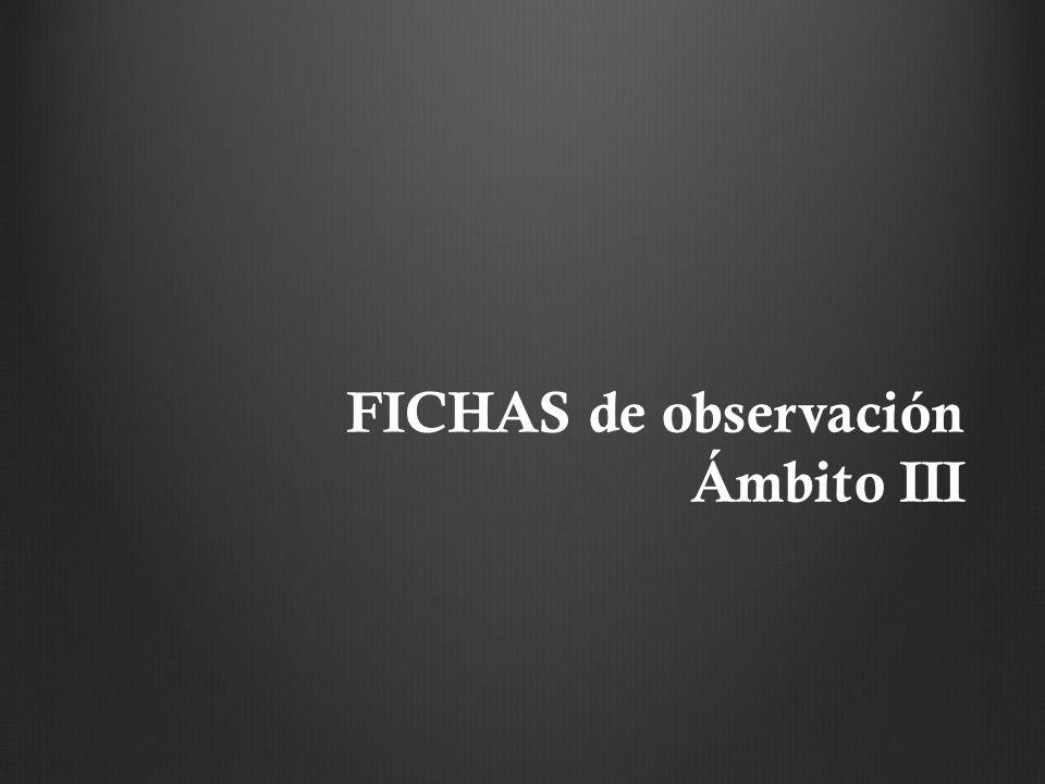 FICHAS de observación Ámbito III