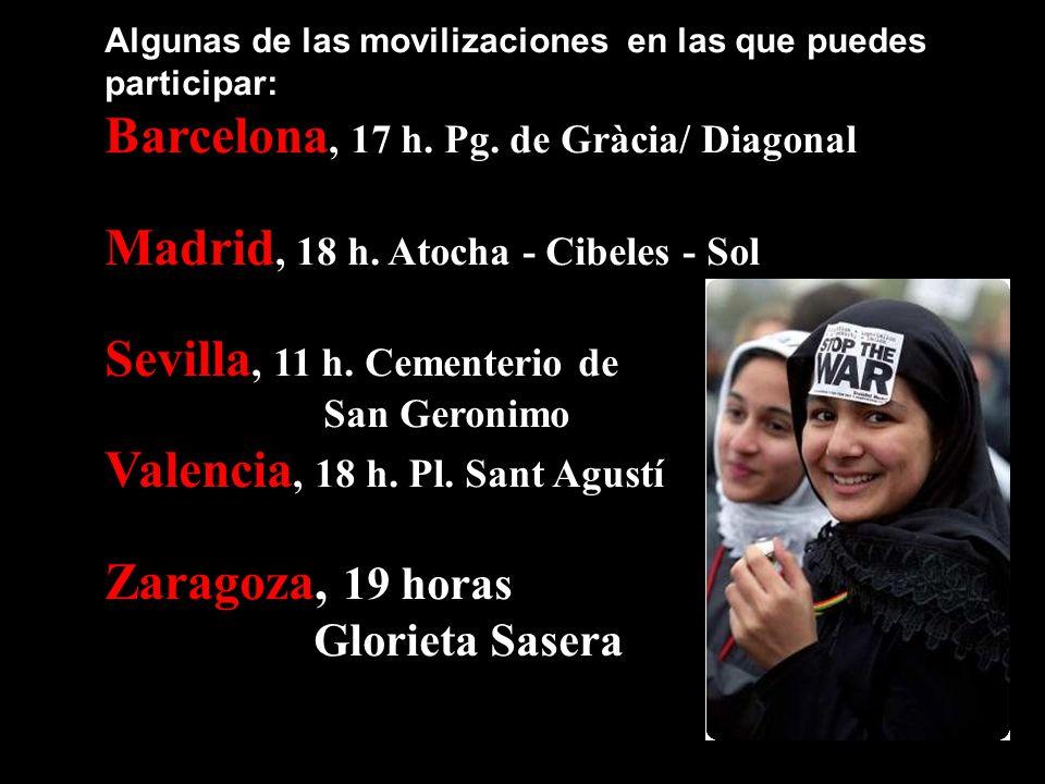 Algunas de las movilizaciones en las que puedes participar: Barcelona, 17 h.