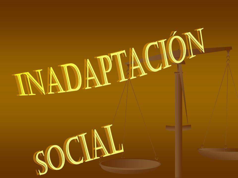 DEFINICIÓN DE INADAPTACIÓN REQUIERE LA PRESENCIA O INCIDENCIA DE LOS FACTORES: Adquisición de programas sociales.
