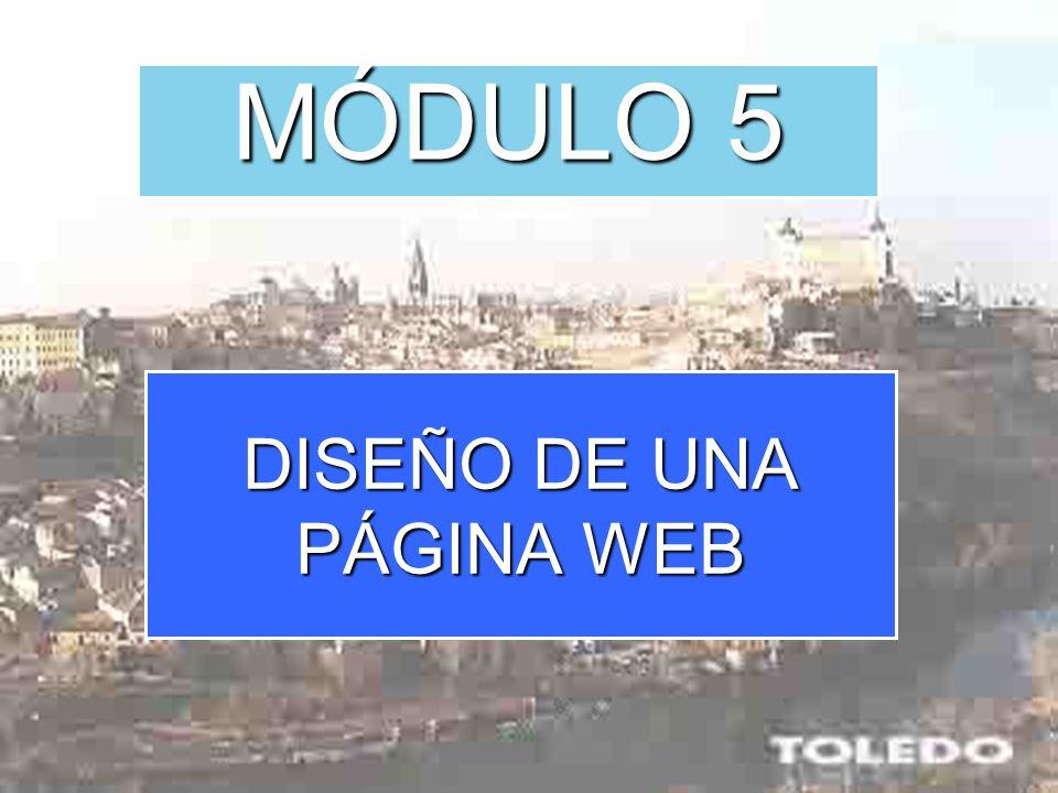 DISEÑO DE UNA PÁGINA WEB MÓDULO 5