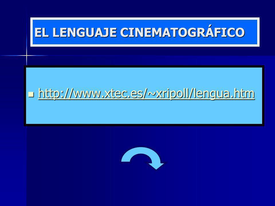 EL LENGUAJE CINEMATOGRÁFICO http://www.xtec.es/~xripoll/lengua.htm http://www.xtec.es/~xripoll/lengua.htm http://www.xtec.es/~xripoll/lengua.htm