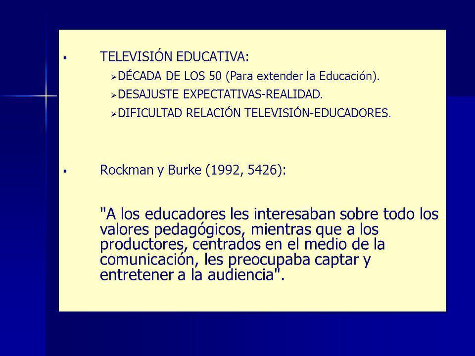 TELEVISIÓN EDUCATIVA: DÉCADA DE LOS 50 (Para extender la Educación).