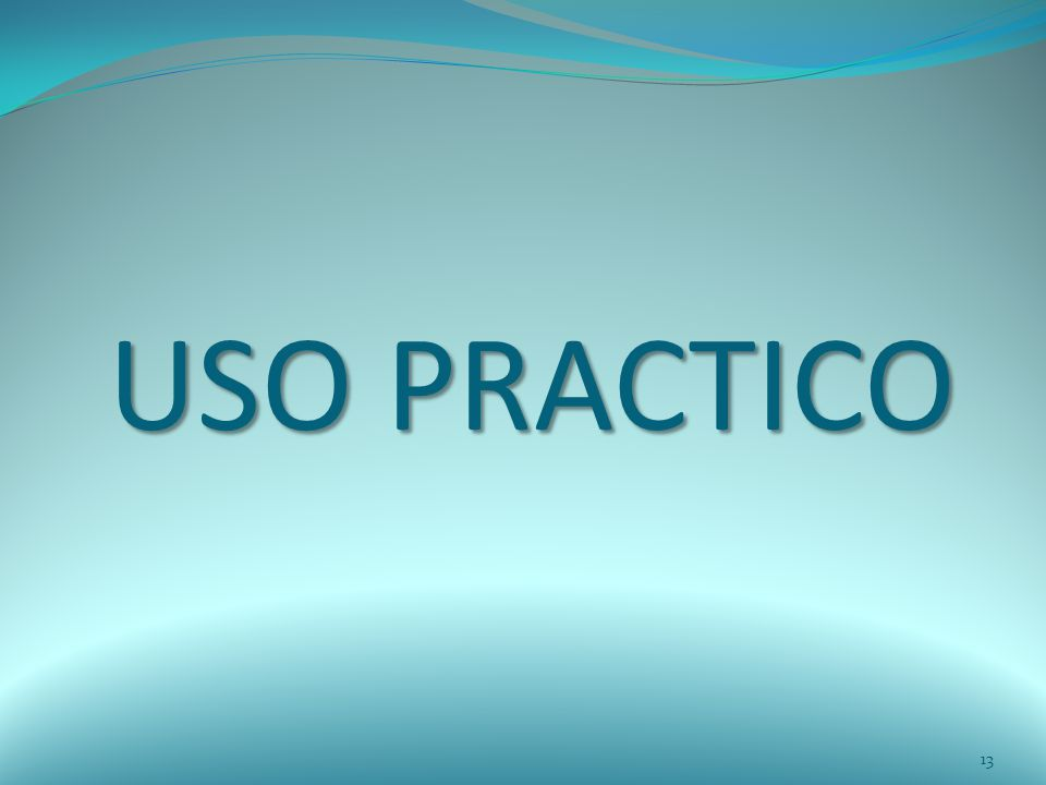 USO PRACTICO 13