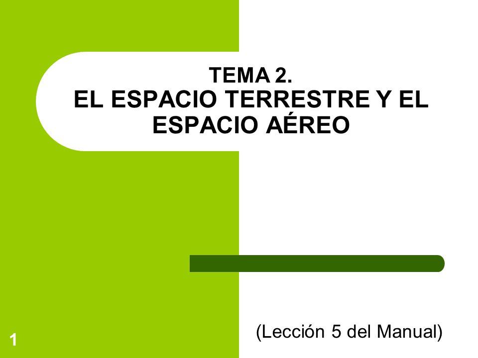 1 TEMA 2. EL ESPACIO TERRESTRE Y EL ESPACIO AÉREO (Lección 5 del Manual)