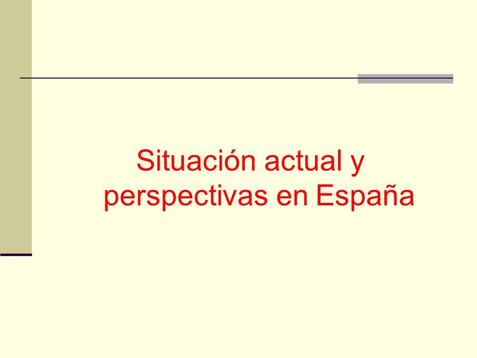 Situación actual y perspectivas en España