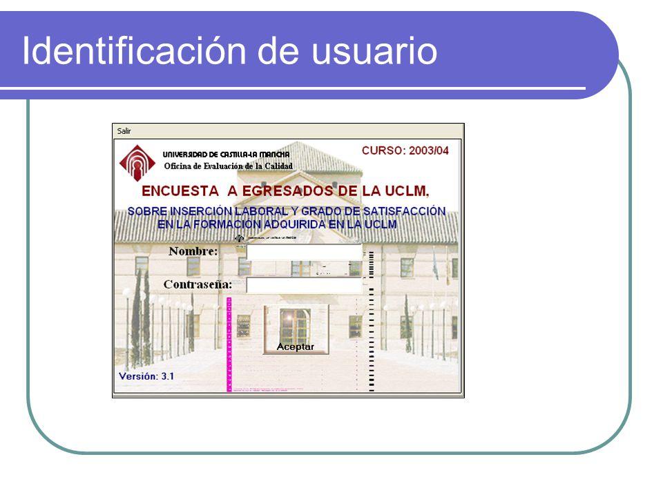Identificación de usuario