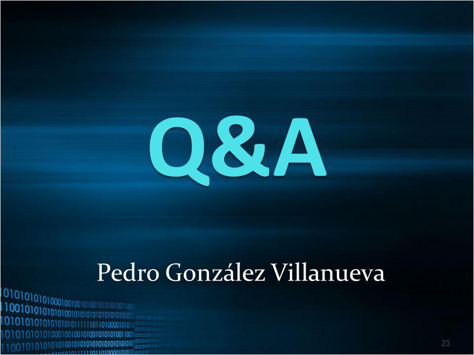 Q&A 23 Pedro González Villanueva