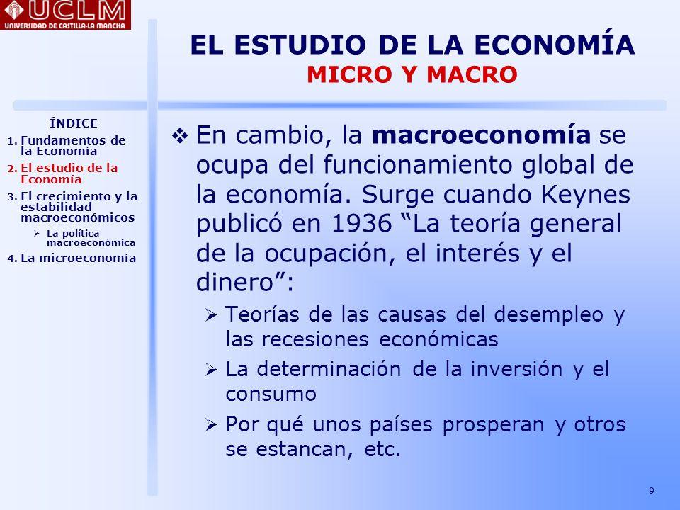 20 EL CRECIMIENTO Y LA ESTABILIDAD MACROECONÓMICOS Instrumentos de la política macroeconómica ¿Qué puede hacer un gobierno para mejorar los resultados económicos?: Política fiscal: mediante los impuestos y el gasto público, que afectan al PIB.
