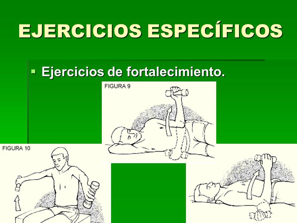 EJERCICIOS ESPECÍFICOS Ejercicios de fortalecimiento.