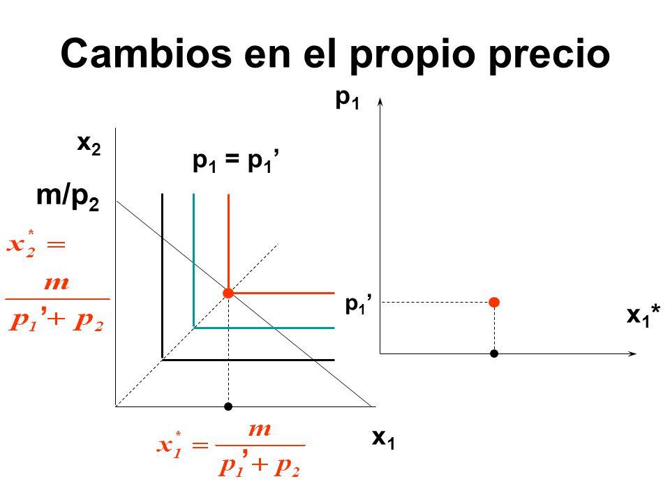 p1p1 x1*x1* x1x1 x2x2 p 1 p 1 = p 1 m/p 2
