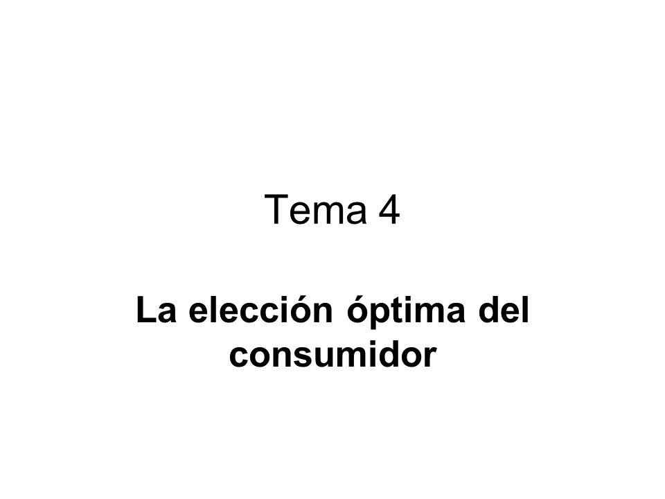 Tema 4 La elección óptima del consumidor