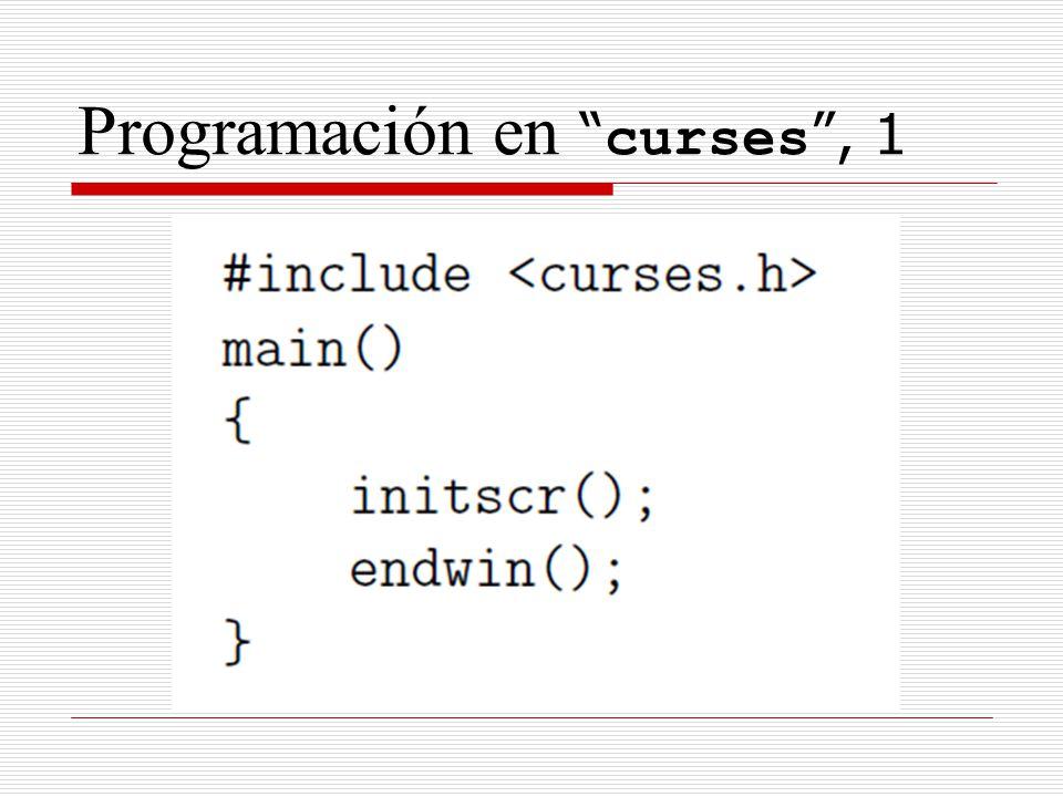 Programación en curses, 1