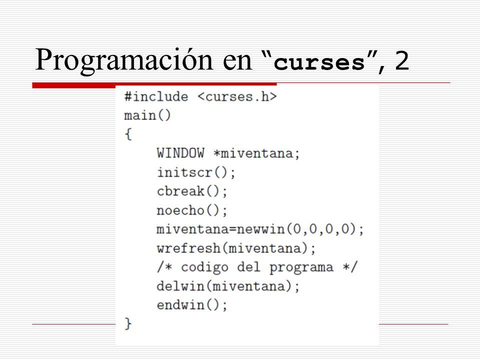 Programación en curses, 2