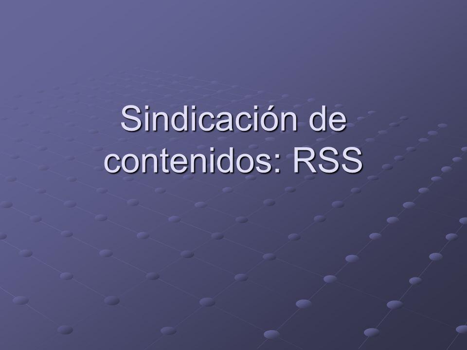 Sindicación de contenidos: RSS
