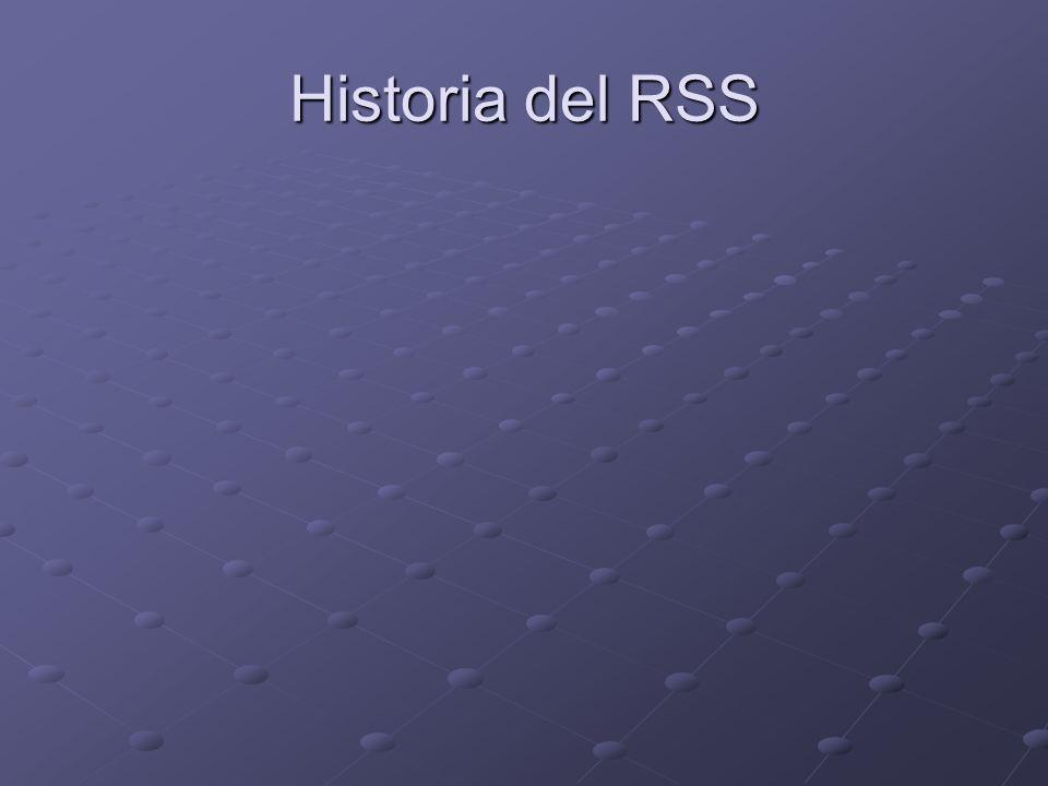 Historia del RSS