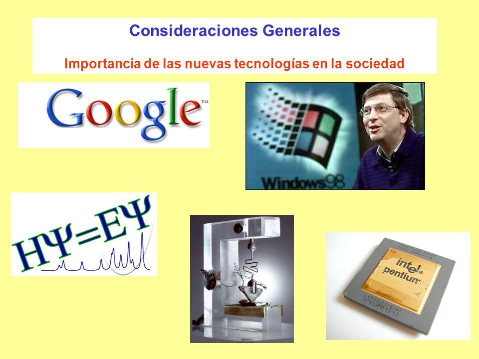 Consideraciones Generales Importancia de las nuevas tecnologías en la sociedad