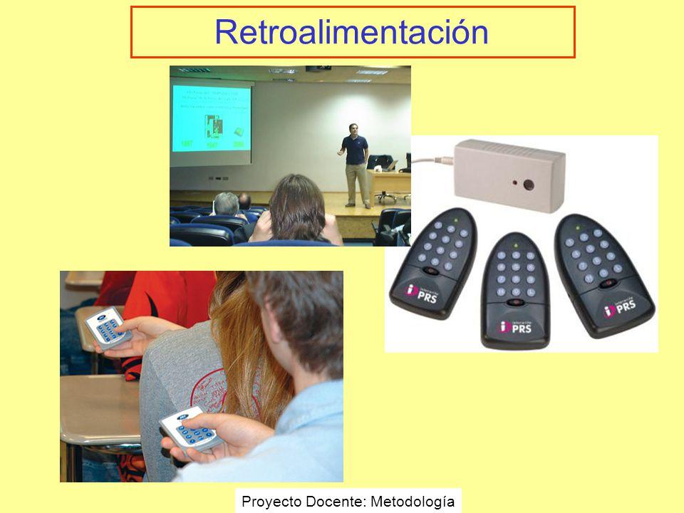 Retroalimentación Proyecto Docente: Metodología