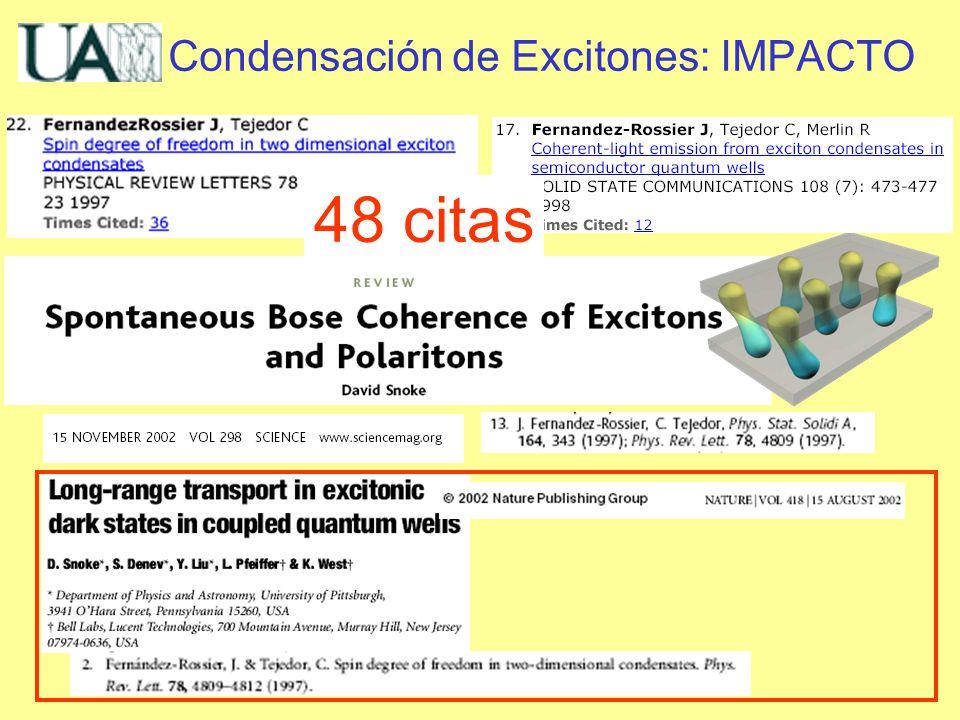 Condensación de Excitones: IMPACTO 48 citas