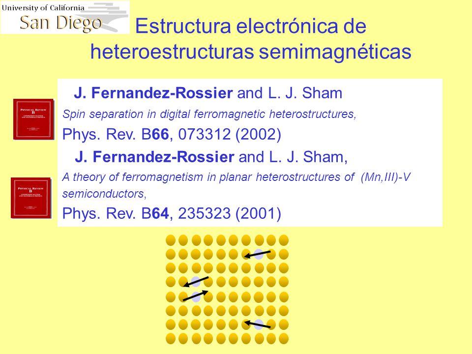 Estructura electrónica de heteroestructuras semimagnéticas J.