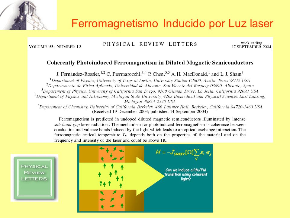 Ferromagnetismo Inducido por Luz laser