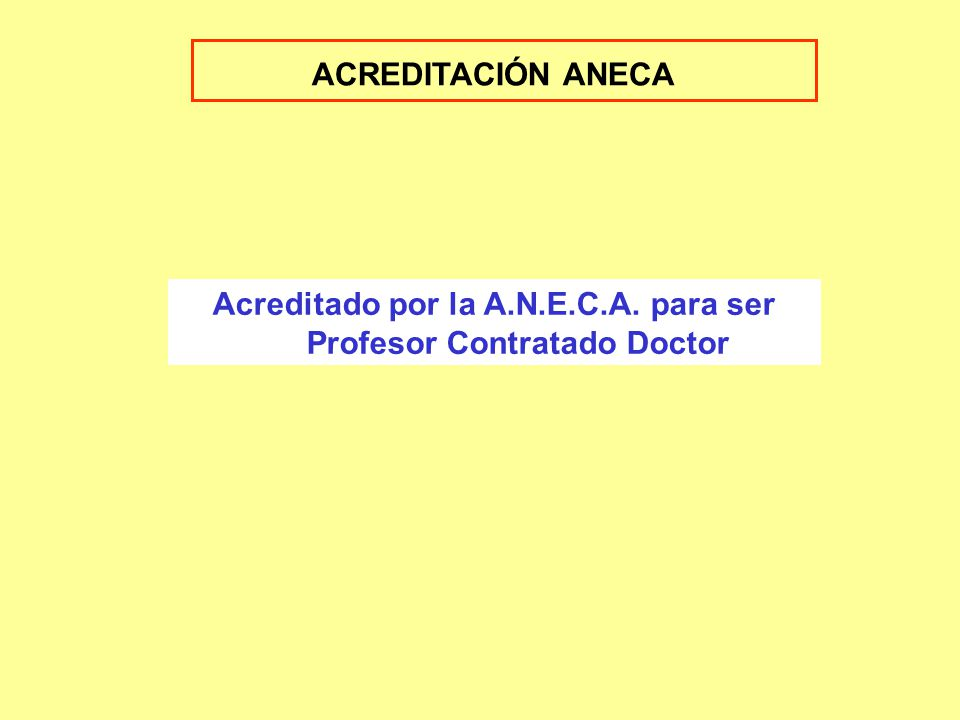 Historial Docente e Investigador 1994-2006