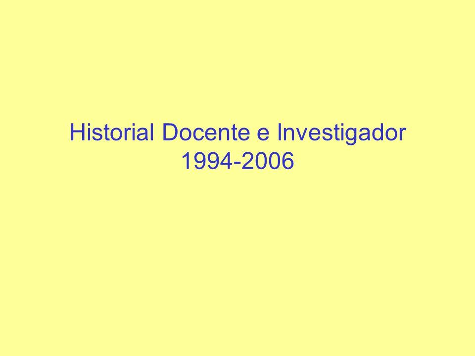 RESUMEN Contrato Ramón y Cajal (2003-), Departamento de Física Aplicada de la UA Predoctoral (1994- 99), UAM Postdoc 1: (24 meses, 99-01), UCSD Postdoc 2: (18 meses, 01- 03), UT