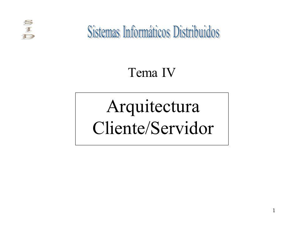 1 Arquitectura Cliente/Servidor Tema IV