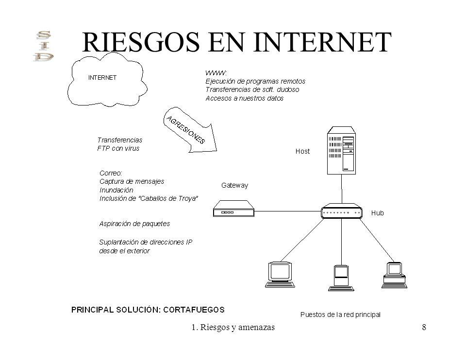 1. Riesgos y amenazas8 RIESGOS EN INTERNET