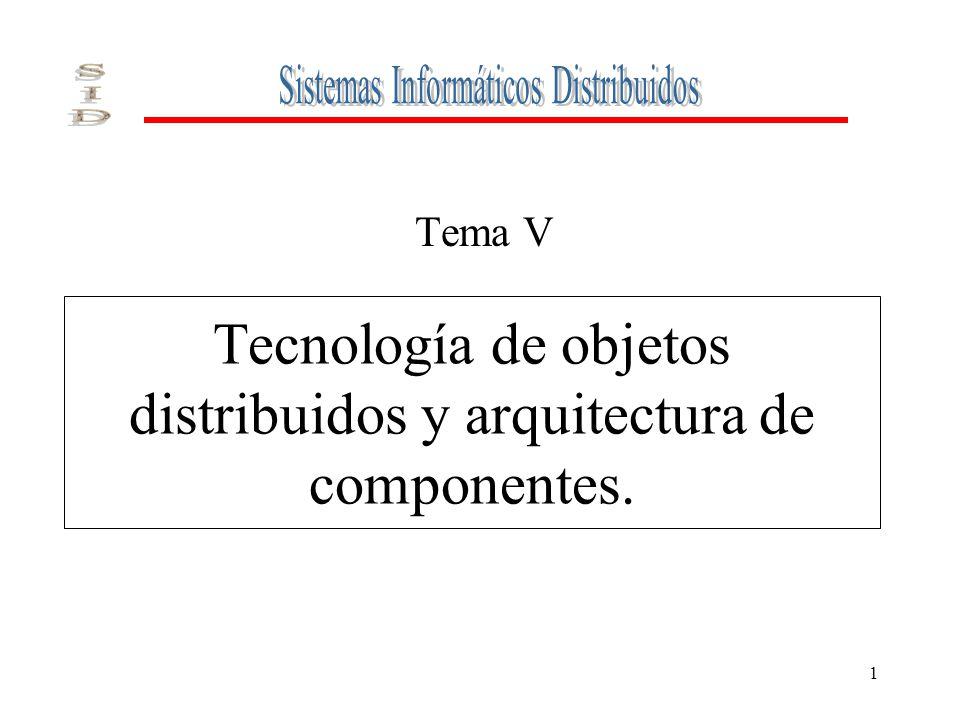 1 Tecnología de objetos distribuidos y arquitectura de componentes. Tema V