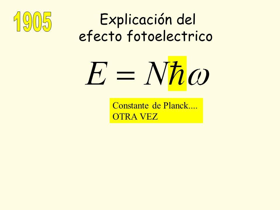 Explicación del efecto fotoelectrico Constante de Planck.... OTRA VEZ