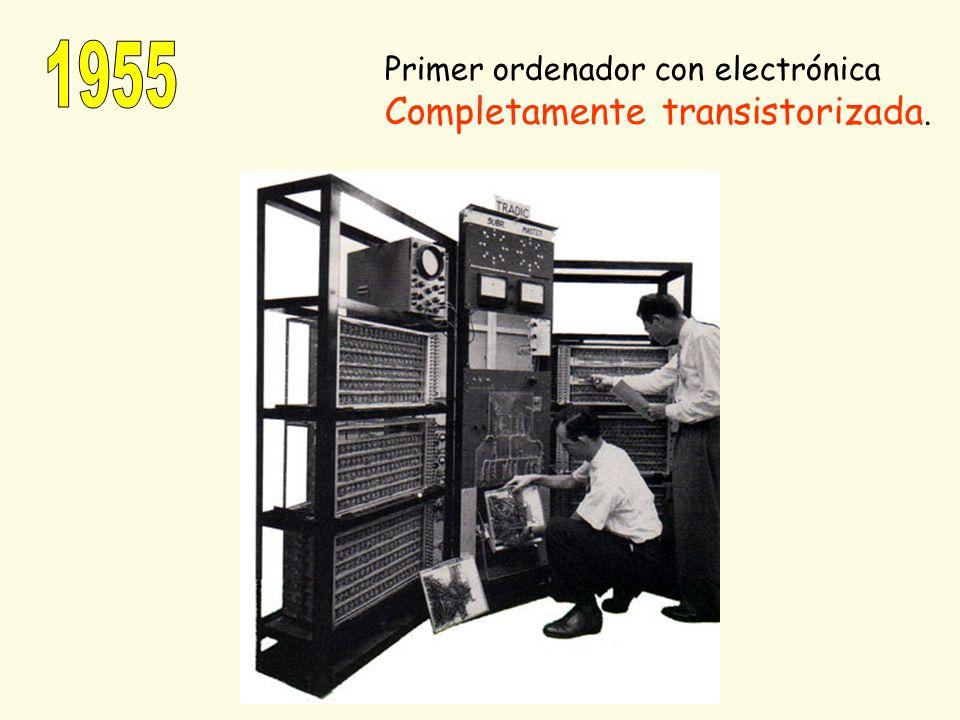 Primer ordenador con electrónica Completamente transistorizada.