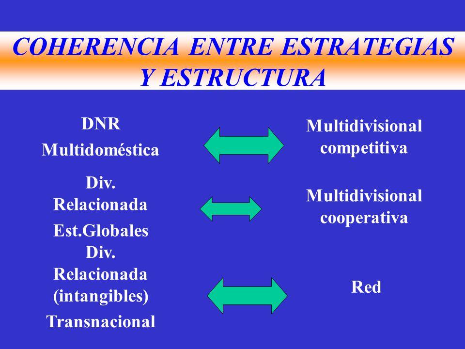 DNR Multidoméstica Multidivisional competitiva Div.