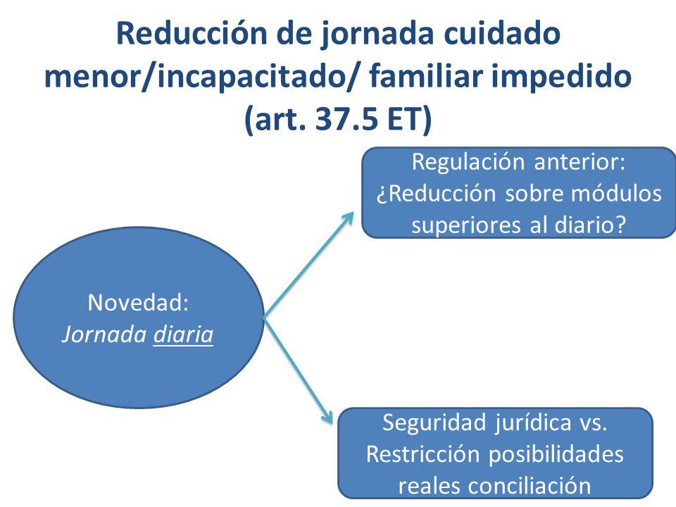 Reducción de jornada (art.