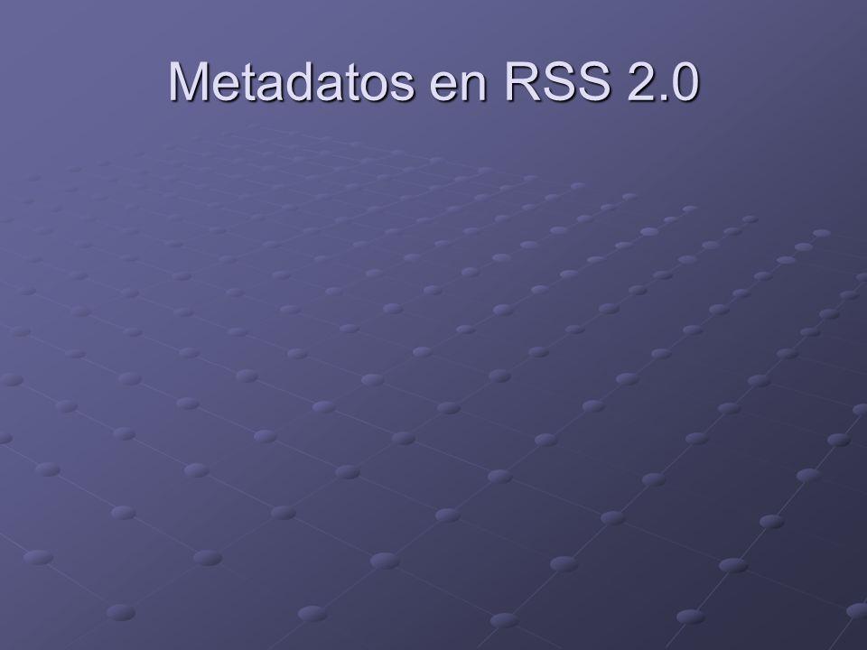 Metadatos en RSS 2.0
