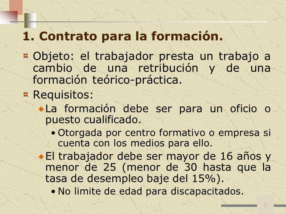 2 1. Contrato para la formación.