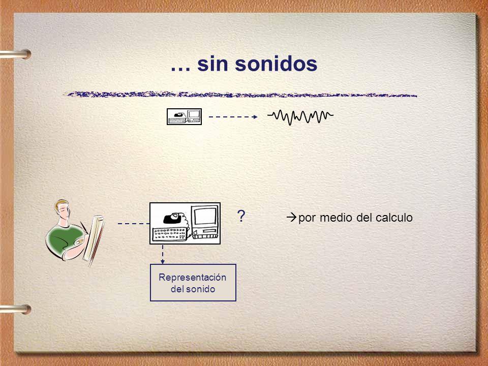 … sin sonidos Representación del sonido ? por medio del calculo