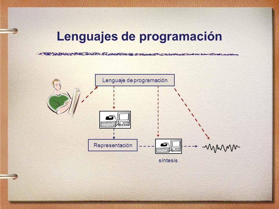 Lenguajes de programación Representación síntesis Lenguaje de programación