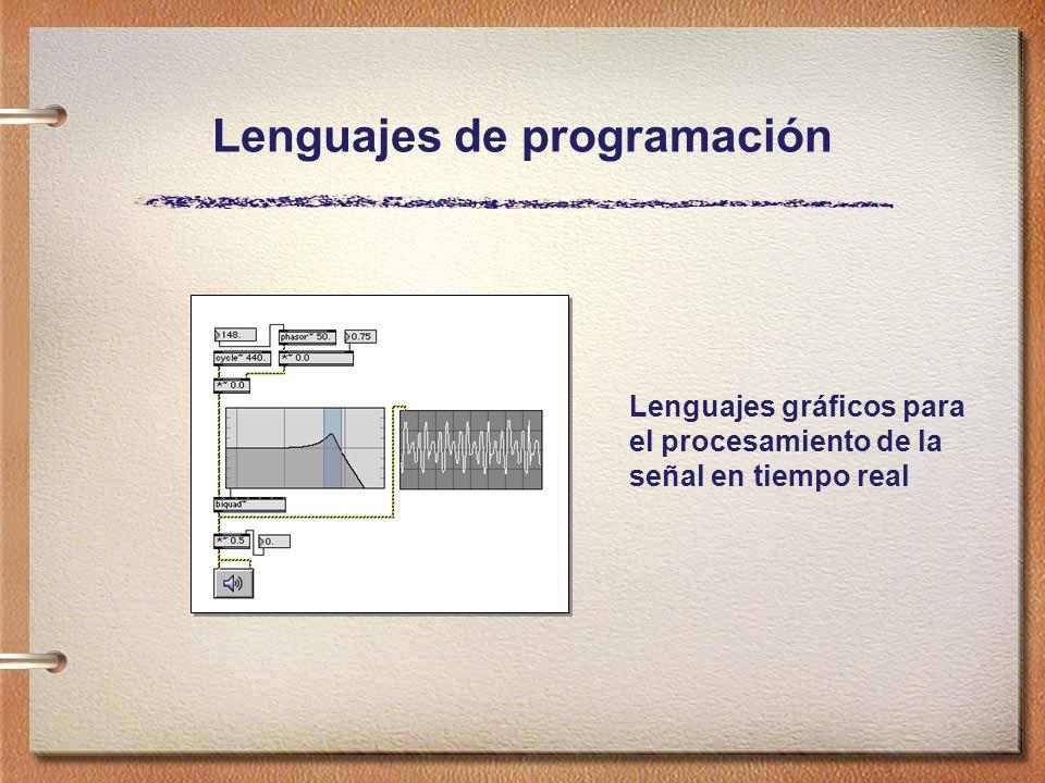 Lenguajes de programación Lenguajes gráficos para el procesamiento de la señal en tiempo real